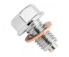 Bikemaster magnetic drain nut available for most bikes. $25 each